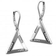 SilberDream Ohrhänger Dreieck Zirkonia 925 Silber Damen Ohrring SDO4321W