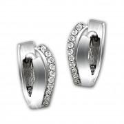SilberDream Creole Doppel-Welle Zirkonia weiß 925 Sterling Silber Damen SDO4322W