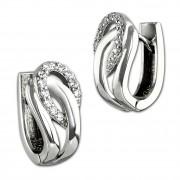 SilberDream Creole Fashion Zirkonia weiß 925 Sterling Silber Damen SDO4325W