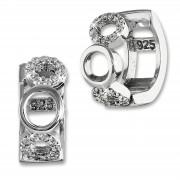 SilberDream Creole Kreise Zirkonia weiß 925 Sterling Silber Damen SDO4328W