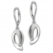 SilberDream Ohrhänger O-Form Zirkonia 925 Sterling Silber Damen Ohrring SDO4338W