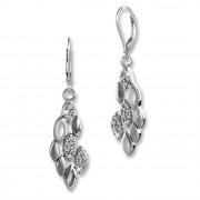SilberDream Ohrhänger Geflecht Zirkonia 925 Silber Damen Ohrring SDO4345W