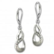 SilberDream Ohrhänger Unendlich 925 Sterling Silber Damen Ohrring SDO4350J