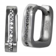SilberDream Creole -eckig- Zirkonia weiß 925er Silber Damen SDO4363S