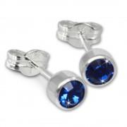 SilberDream Ohrringe Zirkonia blau 925 Silber Ohrstecker SDO503B