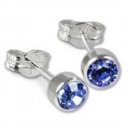SilberDream Ohrringe Zirkonia hellblau 925 Silber Ohrstecker SDO503H