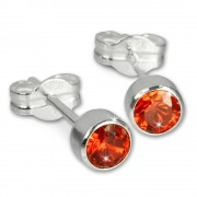 SilberDream Ohrringe Zirkonia orange 925 Silber Ohrstecker SDO503O