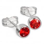 SilberDream Ohrringe Zirkonia rot 925 Silber Ohrstecker SDO503R
