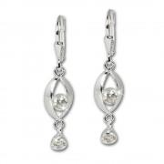 SilberDream Ohrhänger Eye Zirkonia weiß Ohrring 925 Silber SDO523W