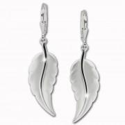 SilberDream Ohrhänger Blatt Ohrring 925 Sterling Silber SDO525