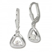 SilberDream Ohrring Triangel Zirkonia weiß 925 Ohrhänger SDO546W