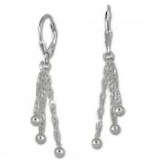 SilberDream Ohrhänger 3er Kettchen Kugel Ohrring 925er Silber SDO5673