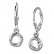 SilberDream Ohrring Doppelring 925 Sterling Silber Ohrhänger SDO5687