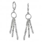 SilberDream Ohrhänger Ring 3er Kettchen Ohrring 925er Silber SDO5703