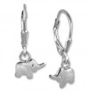 Kinder Ohrring Elefant 925er Silber Ohrhänger Kinderschmuck TW SDO571J