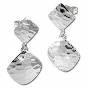 SilberDream Ohrring Muster viereckig 925er Silber Ohrhänger SDO575J