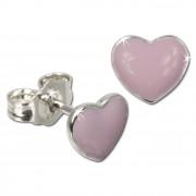 Kinder Ohrring Herz rosa Silber Ohrstecker Kinderschmuck TW SDO601A