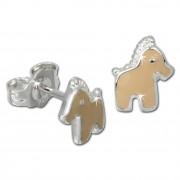 Kinder Ohrring Pferdchen Silber Ohrstecker Kinderschmuck TW SDO606N