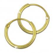 SilberDream Creole Simply vergoldet mini 12mm Ohrring 925 Silber SDO6512Y