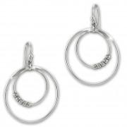 SilberDream Ohrhänger Doppelringe 925 Sterling Silber Damen Ohrringe SDO6700J