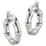 SilberDream Creole Bambus small 925er Sterling Silber Damen Ohrring SDO67191