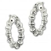 SilberDream Creole Bambus 2,9cm 925er Sterling Silber Damen Ohrring SDO67212