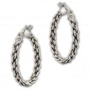 SilberDream Creole Geflecht 925 Sterling Silber Damen Ohrring SDO67312