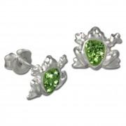 Kinder Ohrring Frosch grün Silber Ohrstecker Kinderschmuck TW SDO8005L