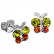 Kinder Ohrring Schmetterling gelb Ohrstecker 925 Kinderschmuck TW SDO8014Y