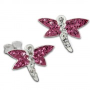 Kinder Ohrring Libelle pink Silber Ohrstecker Kinderschmuck TW SDO8021P