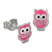 Kinder Ohrring Eule rosa Silber Ohrstecker Kinderschmuck TW SDO8101P