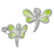Kinder Ohrring 3D Libelle hellgrün Ohrstecker 925 Kinderschmuck TW SDO8109L