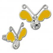 Kinder Ohrring 3D Schmetterling gelb Ohrstecker 925 Kinderschmuck TW SDO8121Y