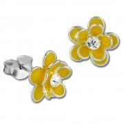 Kinder Ohrring 3D Seerose gelb Ohrstecker 925 Kinderschmuck TW SDO8122Y