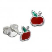 Kinder Ohrring kleiner Apfel rot Ohrstecker 925 Kinderschmuck TW SDO8131R