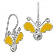 Kinder Ohrring 3D Schmetterling gelb Ohrhänger 925 Kinderschmuck TW SDO8140Y