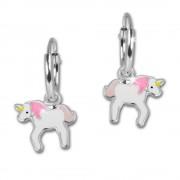 Kinder Creole Einhorn rosa 925 Sterling Silber Ohrring Kinderschmuck TW SDO8157W