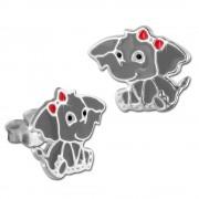 Kinder Ohrring Elefant Ohrstecker 925 Sterling Silber Kinderschmuck TW SDO8161K