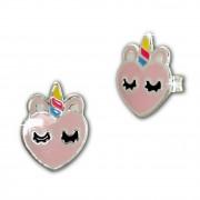 Kinder Ohrring Einhorn-Kopf Ohrstecker 925 Silber Kinderschmuck TW SDO8167A