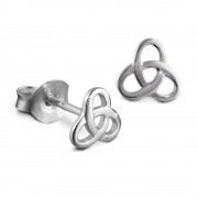 SilberDream Ohrstecker Gordischer Knoten 925 Silber Ohrring SDO8200J