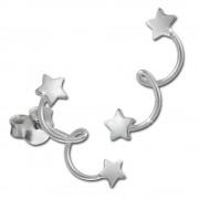 SilberDream Ohrstecker Sternenschweif 925 Sterling Silber Ohrring SDO8212J