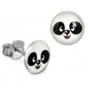 SilberDream Ohrstecker Logo Print Panda Kinder Damen Ohrring 925 Silber SDO85137
