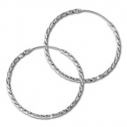 SilberDream Creole gedreht 40mm Ohrring 925 Silber SDO87124