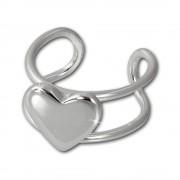 SilberDream Ohrklemme Herz Ear Cuff 925 Sterling Silber Fake Piercing SDO8879J