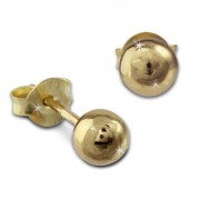 SilberDream Ohrstecker vergoldet Kugel glänzend 925er Ohrring SDO9505Y