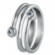 SilberDream Ring Dream Zirkonia weiß Gr.58 Sterling 925er Silber SDR406W58