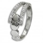 SilberDream Ring Kreise Zirkonia weiß Gr.58 aus 925er Silber SDR407W58