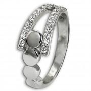 SilberDream Ring Kreise Zirkonia weiß Gr.60 aus 925er Silber SDR407W60