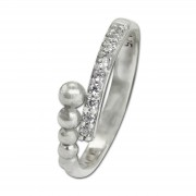SilberDream Ring Kugeln Zirkonia weiß Gr.54 aus 925er Silber SDR409W54