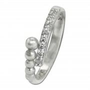 SilberDream Ring Kugeln Zirkonia weiß Gr.56 aus 925er Silber SDR409W56